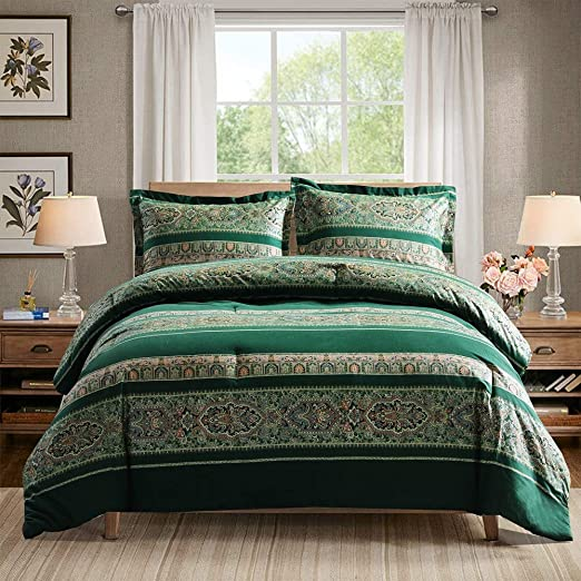 Amazon.com: SexyTown Boho Comforter,100% Brushed Cotton Bedding