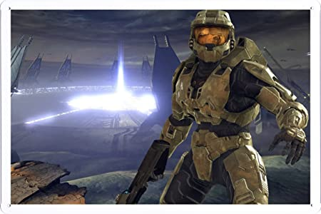 Master Chief Halo Print on Tin Sign Plate Metal Poster 20