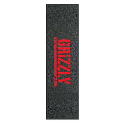 Grizzly Stamp Print Black/Red 9x33 M. Santiago - Single Sheet