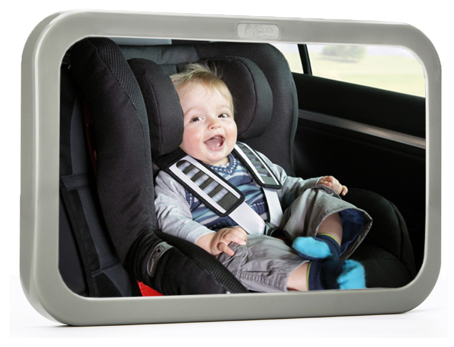 #1 Back Seat Mirror - Baby & Mom Rear View Baby Mirror - Easily Watch your Precious Child In-Car - Adjustable, Convex and Shatterproof Glass by Baby & Mom