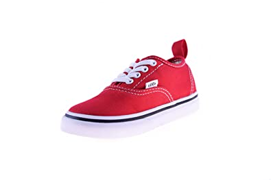 bcfc05f5d7 Vans Toddler Authentic Elastic Lace Racing Red True White 6