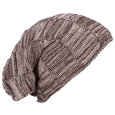 fe73e59daac6b ERIC YIAN Beanie Winter Hat Slouch Skull Cap Warm Knitted with Nap Cloth  Unisex (Beige)  Amazon.co.uk  Clothing