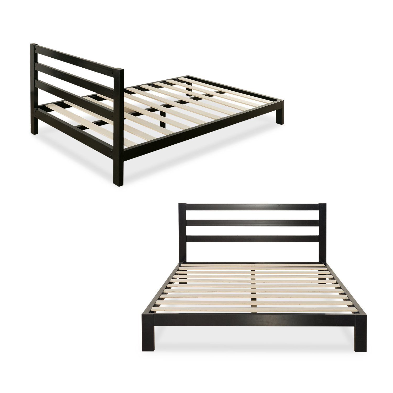 Zinus Arnav Modern Studio 10 Inch Platform 2000H Metal Bed Frame / Mattress Foundation / Wooden Slat Support / With Headboard / Good Design Award Winner, Queen by Zinus