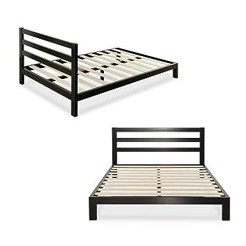 zinus modern studio 10 inch platform 2000h metal bed frame mattress foundation wooden slat