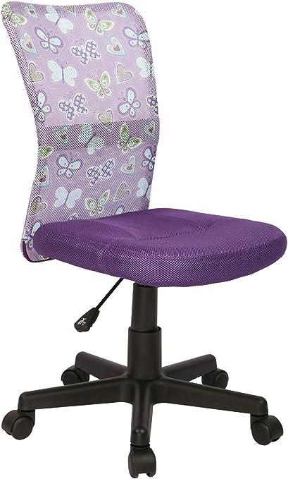 CARELLIA Chaise DE Bureau Enfant : Violet: