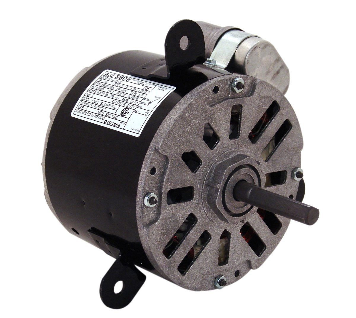A.O. Smith OTC1862 1/4 HP, 1625 RPM, 1 Speed, 48Y Frame, CWLE Rotation, 1/2-Inch by 2-3/4-Inch Flat Shaft OEM Direct Replacement by A. O. Smith  B007ATNWCM