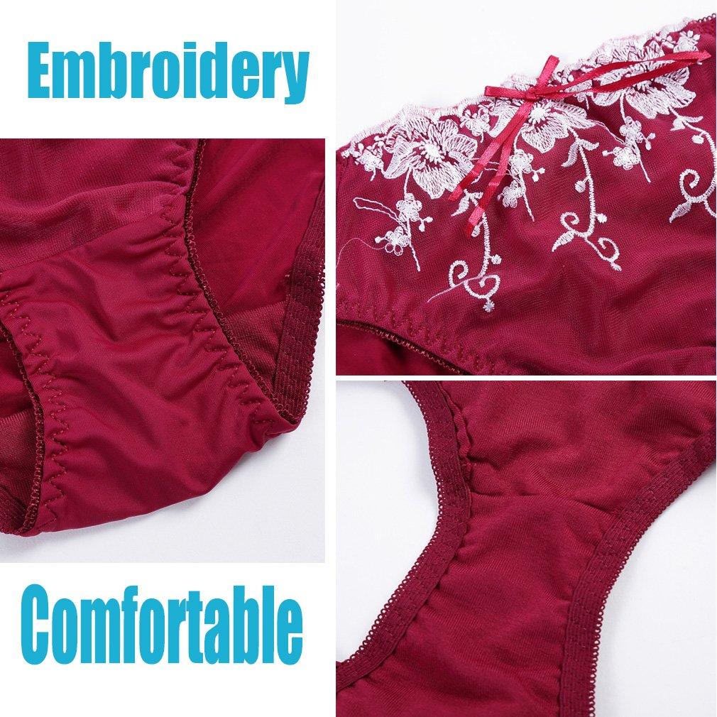 951604859bc5 Amazon.com: Julexy C Cup Embroidery Bra Set Black Blue Red Rose Lace Bra  Panty Set 5566: Clothing