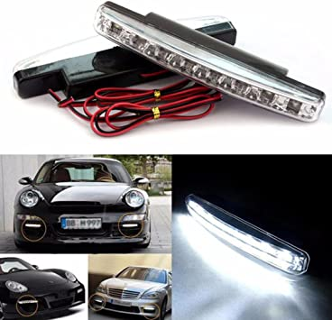 2pc Flexible Waterproof LED Car DRL Day Running LightStrip Daylight Fog Lamp New