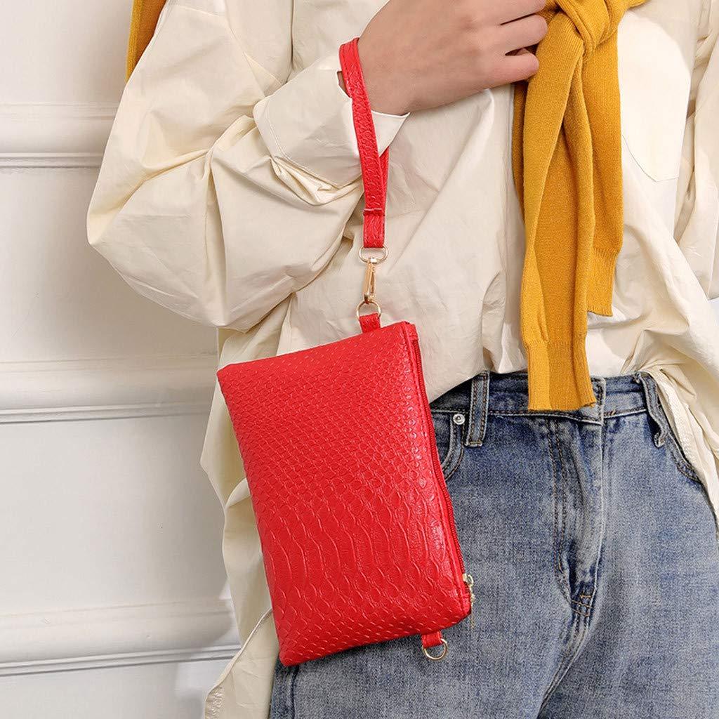 Rakkiss Solid Crossbody Bag Leather Messenger Bag Vintage Handbag Strap Bucket Square Tote