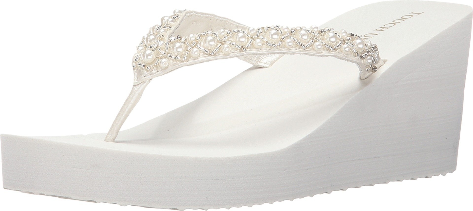 Touch Ups Women's Shelly White Satin Sandal 8 M