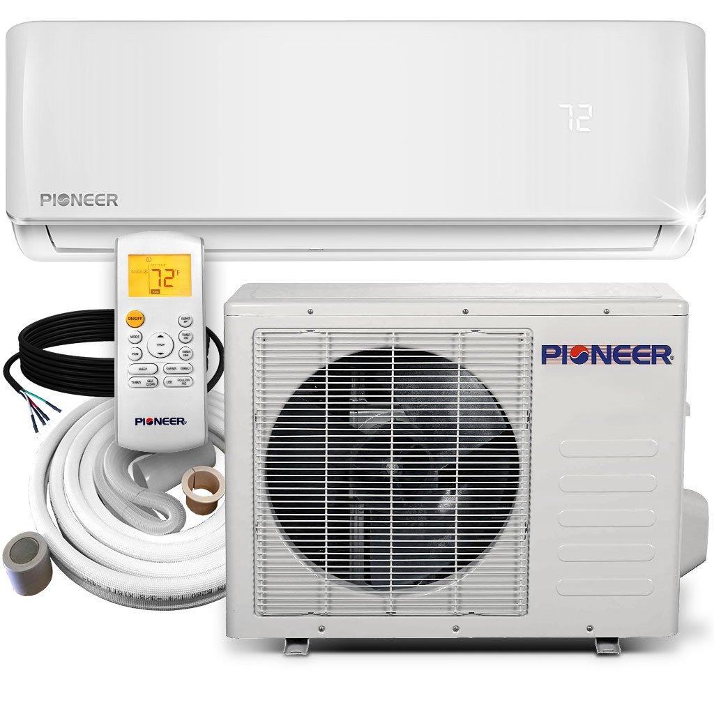 Amazon.com: Pioneer WYS012-17 Air Conditioner Inverter+ Ductless Wall Mount Mini  Split System Air Conditioner & Heat Pump Full Set, 12000 BTU 115V: Home &  ...