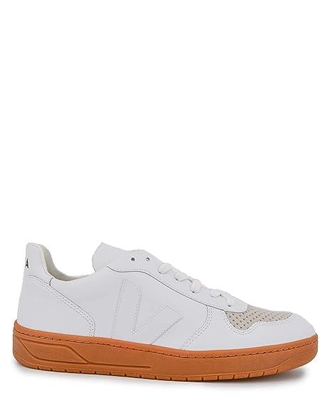 Veja Zapatillas de Piel para Hombre Blanco Extra White: Amazon.es: Zapatos y complementos