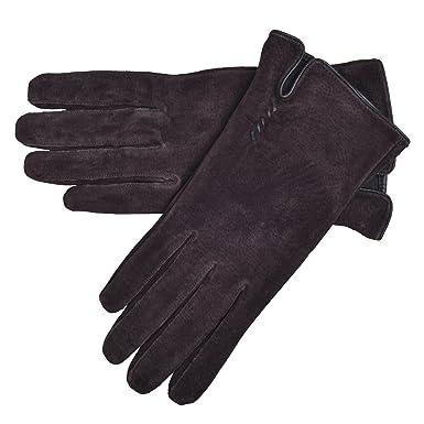 Lambland Damen Wildleder Handschuh mit Nähmuster: Amazon.de: Bekleidung