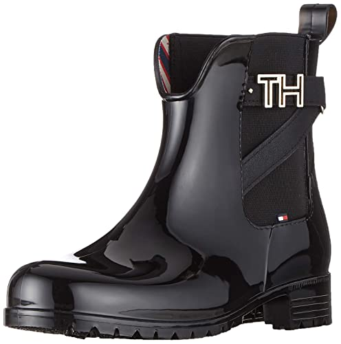 Black TOMMY HILFIGER Rain boots TH HARDWARE