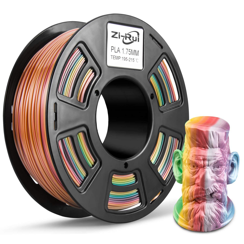 FDM 3D Printer PLA Filament 1.75mm Multicolor Gradient Rainbow 1kg