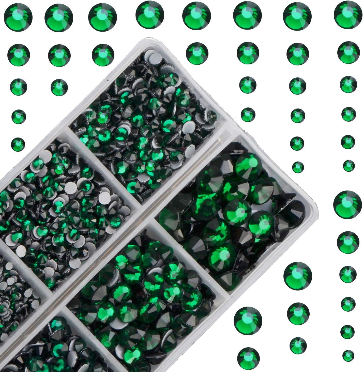 4mm Great Quality Hot Fix//Iron On Peridot Green Flatback Round HOTFIX SS16