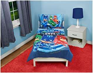 PJ Masks PJ Masks Time to Save The Day 4 pc Toddler Bedding Set, Blue