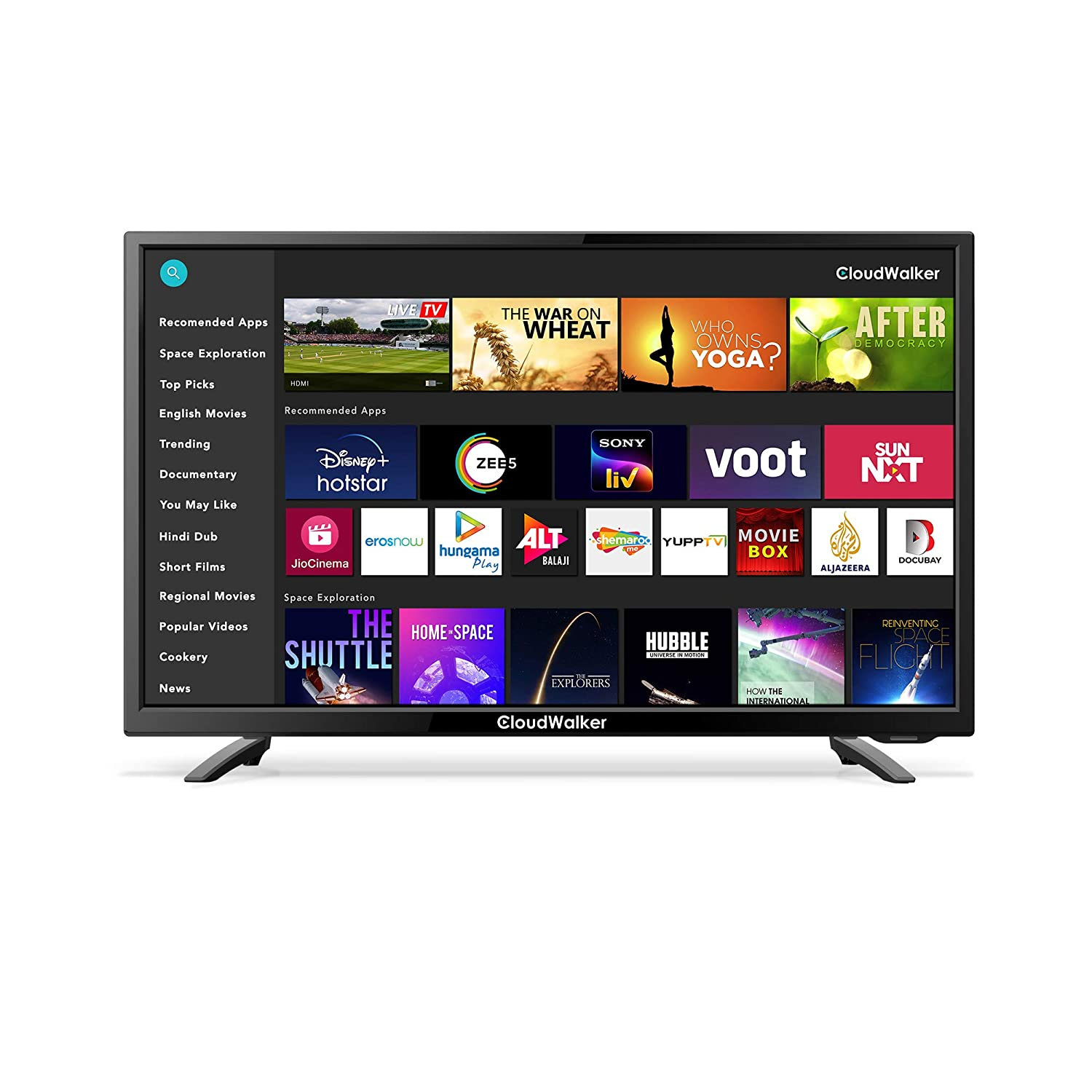 CloudWalker 80 cm (32 inches) HD Ready Smart LED TV Cloud X3 32SHX3 (Black)