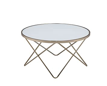Amazoncom ACME Furniture Acme 81825 Valora Coffee Table Frosted