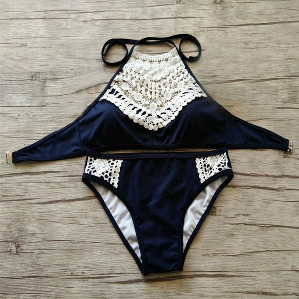 3f0a908c4c9a6 Trendinao Bikini Women Set Sexy Padded Bra Halter Bottom Swimwear at Amazon  Women s Coats Shop