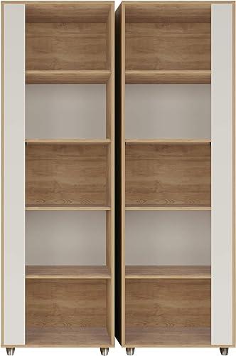 Cheap Manhattan Comfort Cypress Mid-Century Modern 5 Shelves Bookcase modern bookcase for sale