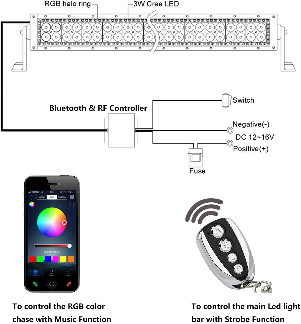 Distribución de electricidad con LED de estado 12-16v AC//DC 10a kit!