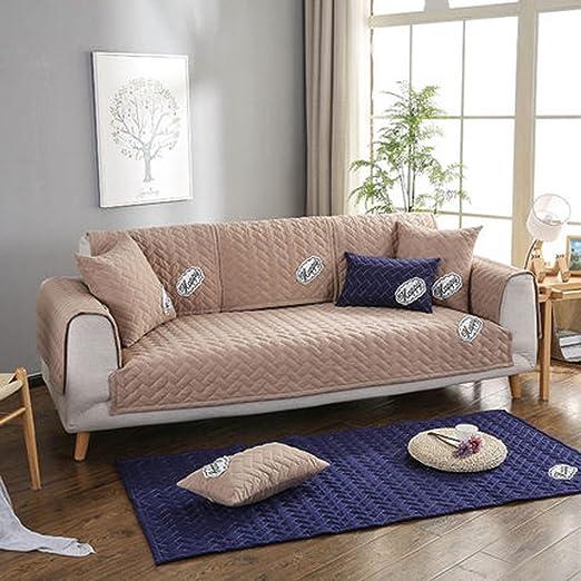 J&DSU Funda de sofá de algodón,Sofa slipcover 1 Pieza ...