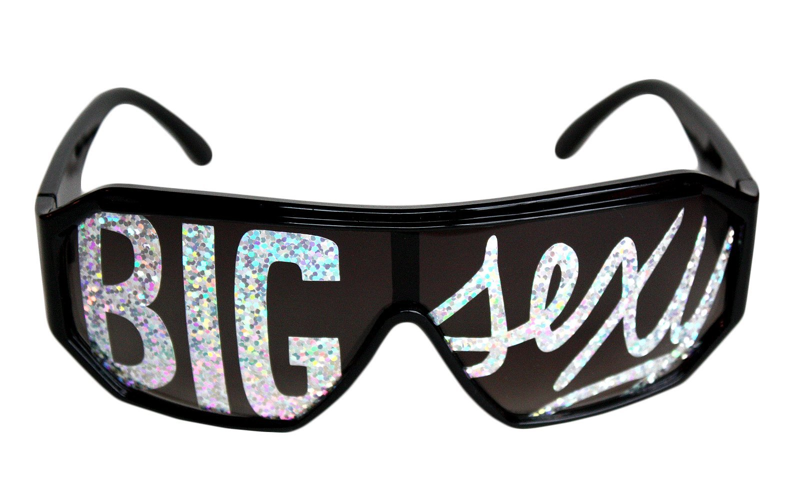 Rasslor Big Sexy Black Frame Sunglasses