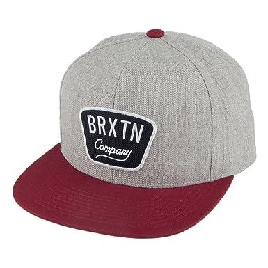 Brixton - Gorra de béisbol - para hombre Gris-Bordeaux Talla única ...