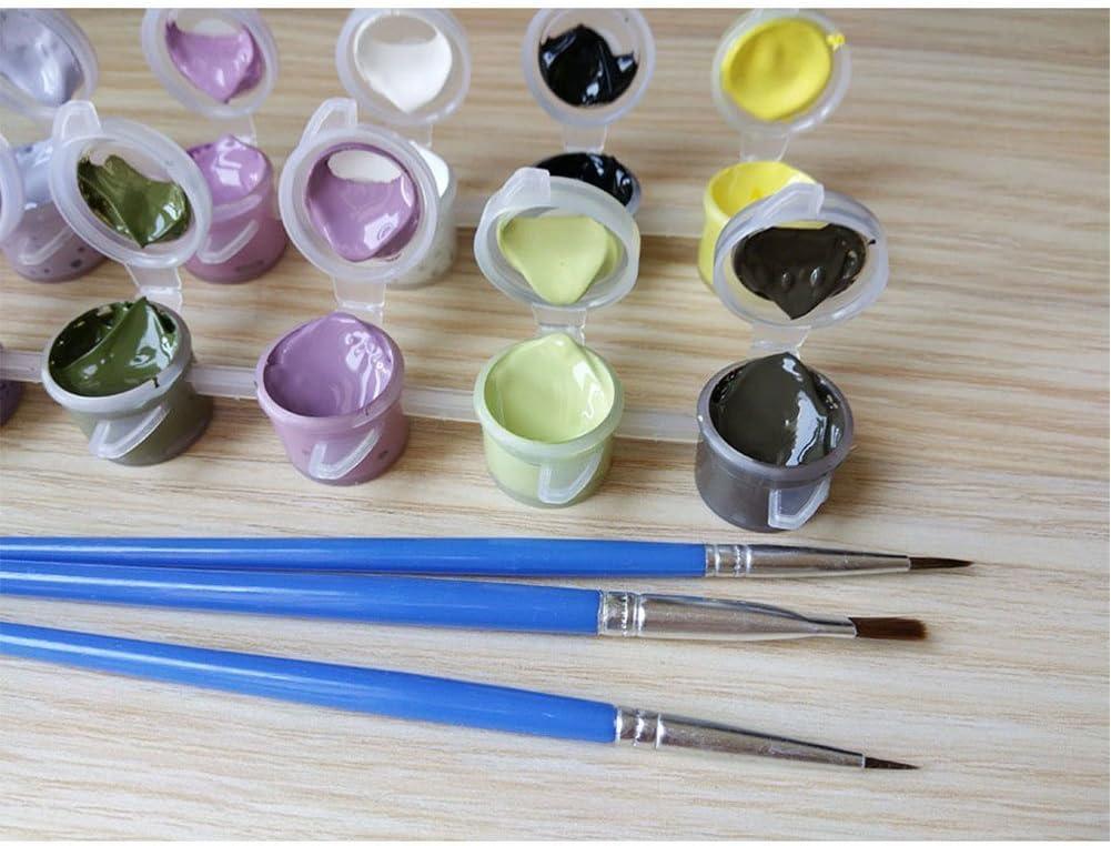 Peinture par num/éro kit DIY Peinture /à lhuile Dessin Pinceaux de toile avec d/écorations de No/ël D/écorations cadeaux Frameless