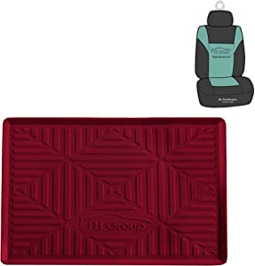 FH Group FH3011 Silicone Anti-Slip Dash Mat Smartphone iPhone, iPhone Plus, Galaxy, Galaxy Note Coin Grip, Burgundy Color - with Gift