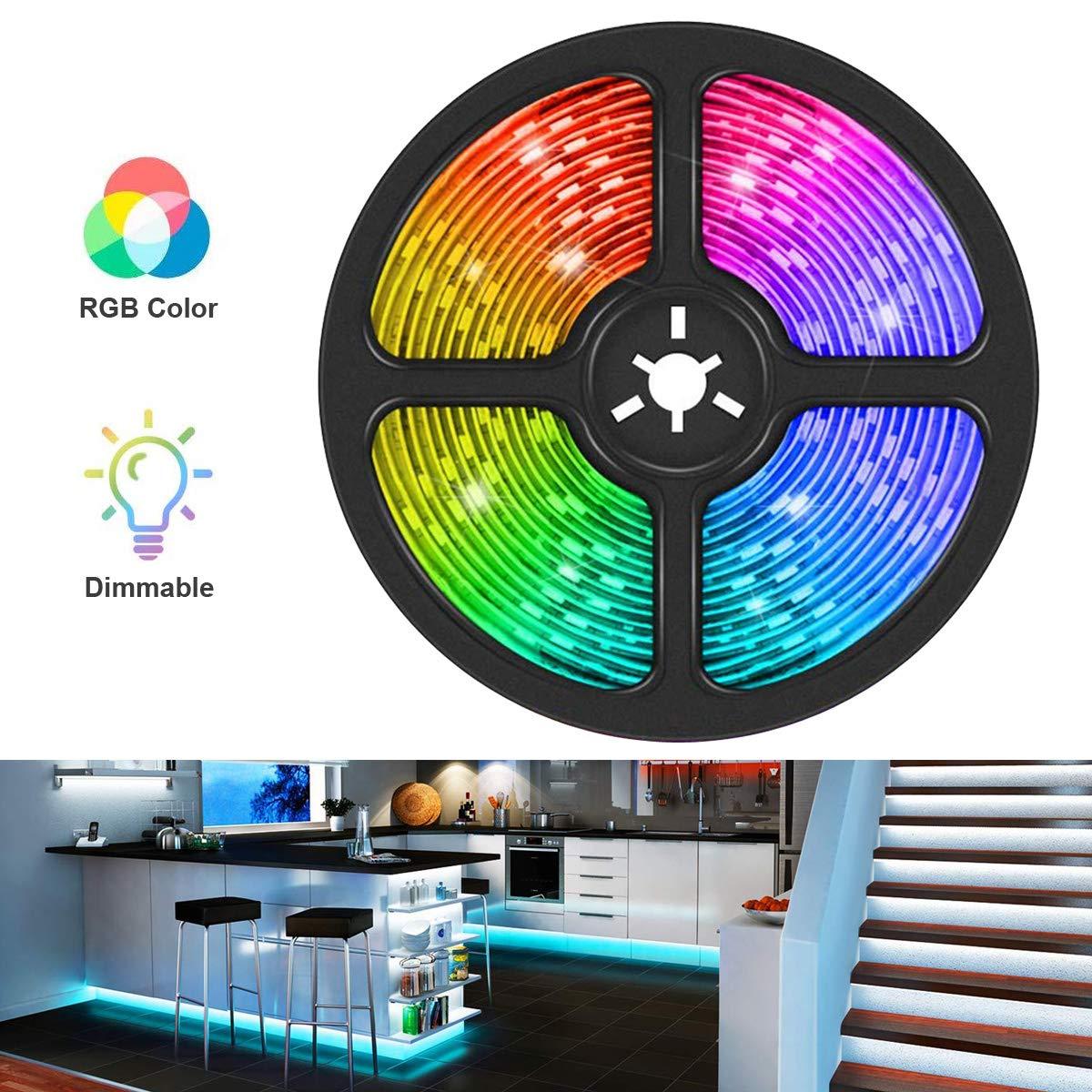 Multicolore Illuminazione Fata Striscia di RGB LED SMD 3 Metri 1m 2m 3m 4m 5m DC 12V Non Impermeabile IP20 5050 60LEDs//m