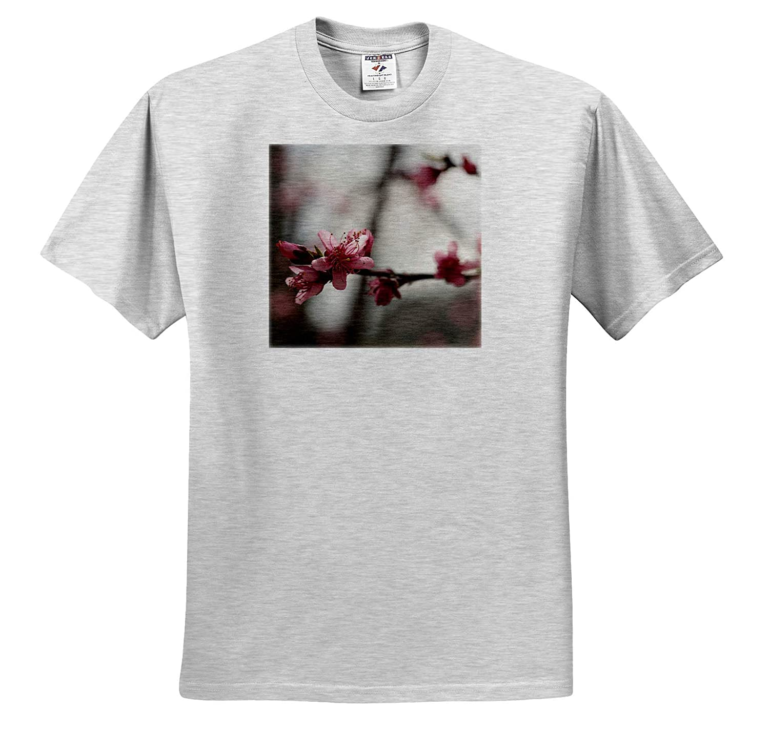 Photograph of Peach Tree Blossoms in Bloom Flowers - T-Shirts 3dRose Stamp City