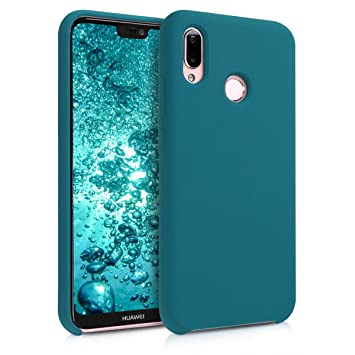 kwmobile Funda para Huawei P20 Lite - Carcasa de TPU para teléfono móvil - Cover Trasero en petróleo Mate