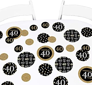product image for Big Dot of Happiness Adult 40th Birthday - Gold - Birthday Party Giant Circle Confetti - Party Decorations - Large Confetti 27 Count