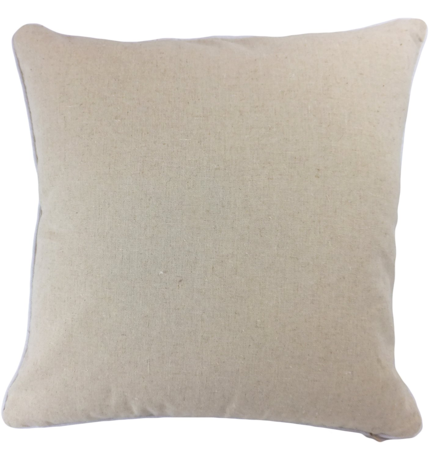"""Blue Dolphin Decorative White Sequins Love Symbol Floral Throw Pillow Cover 18"""" White/Beige - Sewn LOVE symbol white sequins in front Simple, elegant design makes the pillow a perfect match in any room Hidden zipper allows easy change of pillow inserts - living-room-soft-furnishings, living-room, decorative-pillows - 71W5FsMU7UL -"""