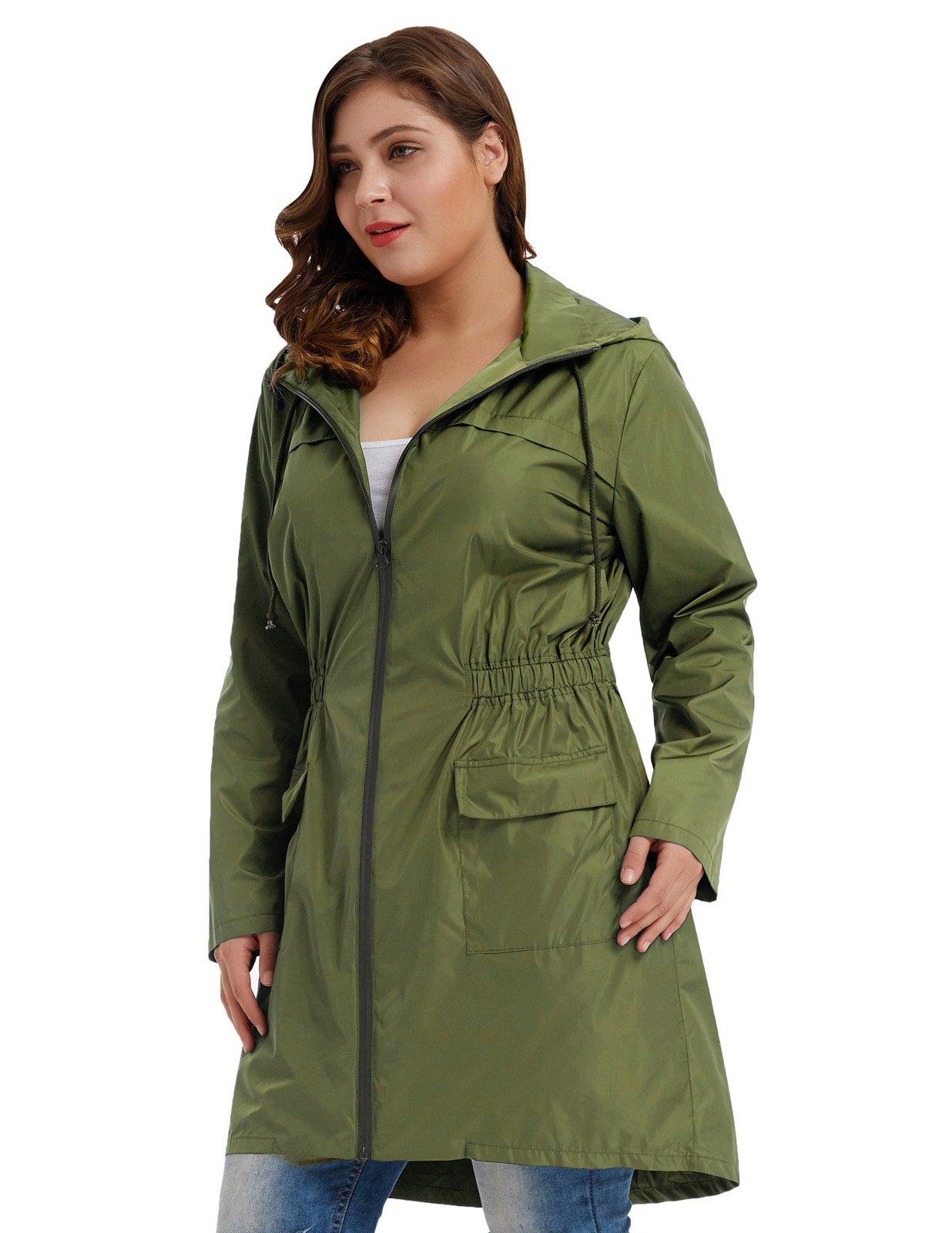 1f2e7a0c0 Hanna Nikole Women Plus Size Lightweight Raincoat Travel Hoodie Rain ...