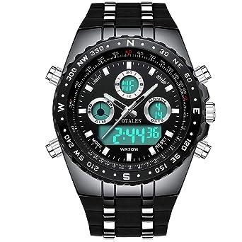 f429f8959a Amazon | [ビンズ] BINZI 軍事腕時計 アナデジ表示 BZ-1605b メンズ ...