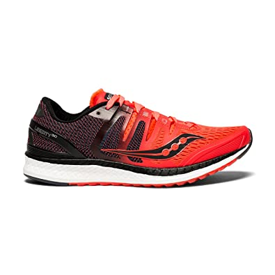 saucony Liberty ISO Shoes Women Vizipro Red/Black/Grey US 7 2lCF6Mzg2W