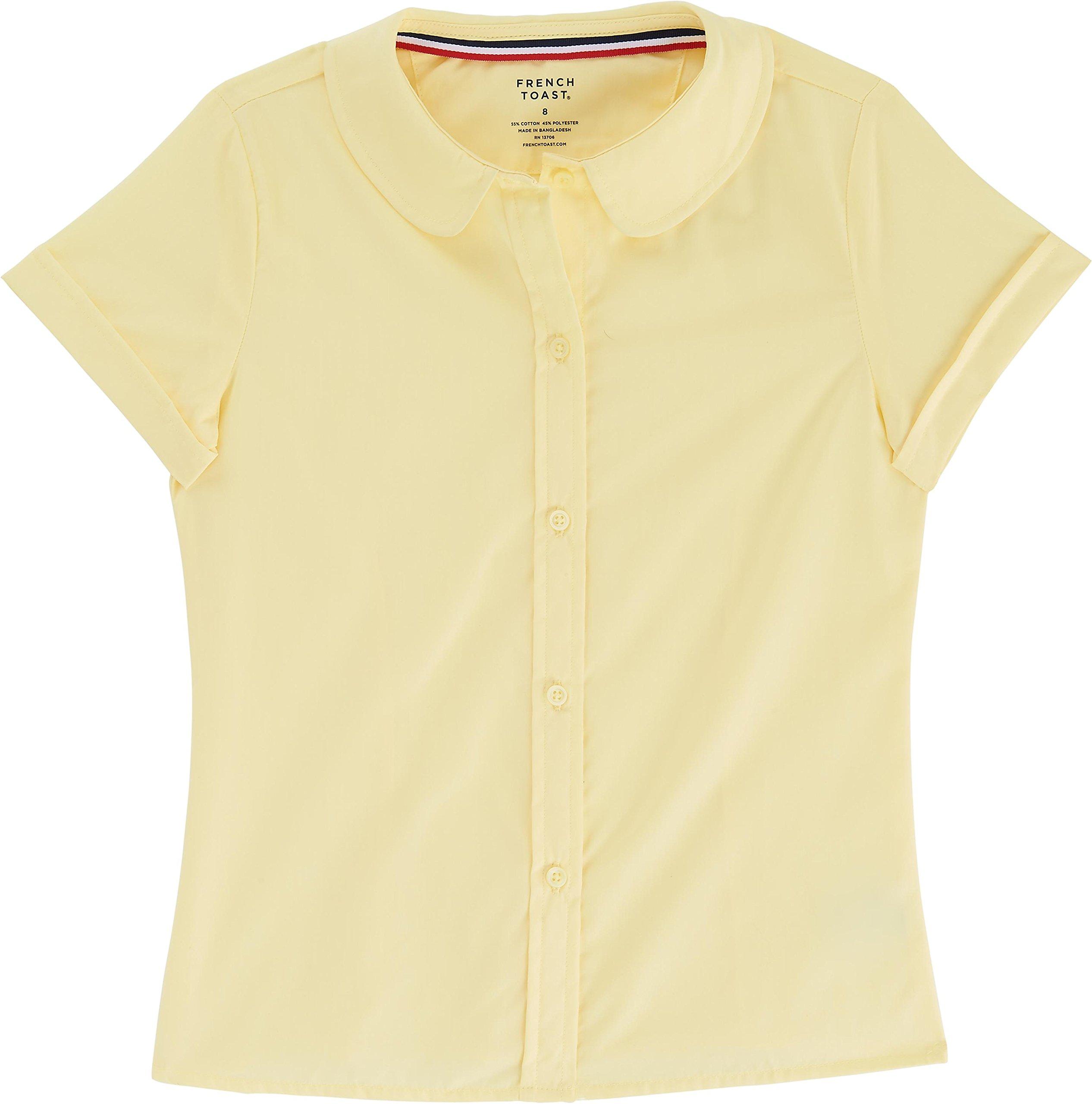 79a2545e807725 Galleon - French Toast School Uniform Girls Short Sleeve Modern Peter Pan  Blouse