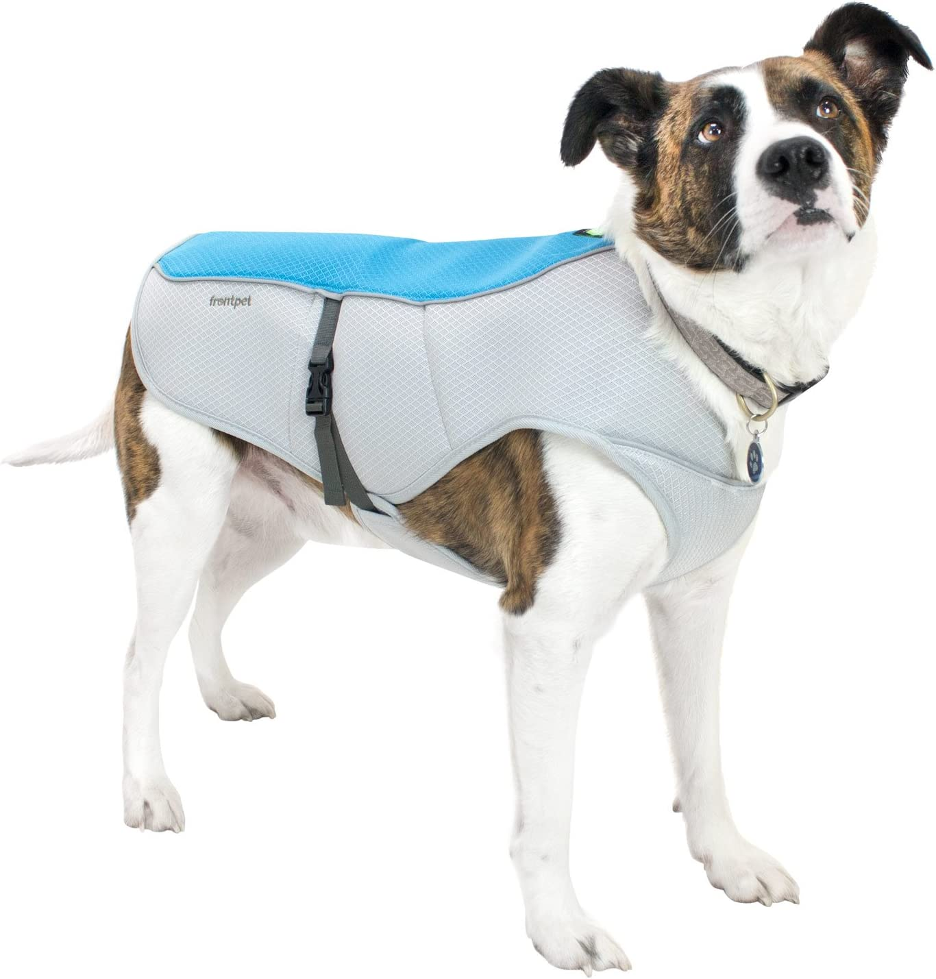 FrontPet Dog Cooling Vest with Adjustable Side Straps and Highly Visible Reflective Padding, Fits Most Medium and Large Breed Dogs
