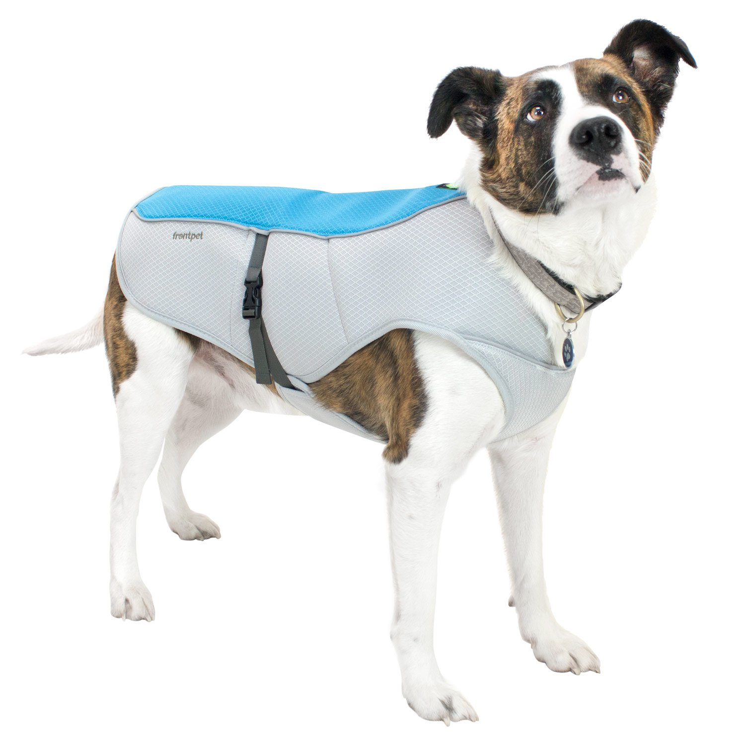 FrontPet Cooling Dog Vest With Adjustable Side Straps And Highly Visible Reflective Padding. Fits Most Medium and Large Breed Dogs!