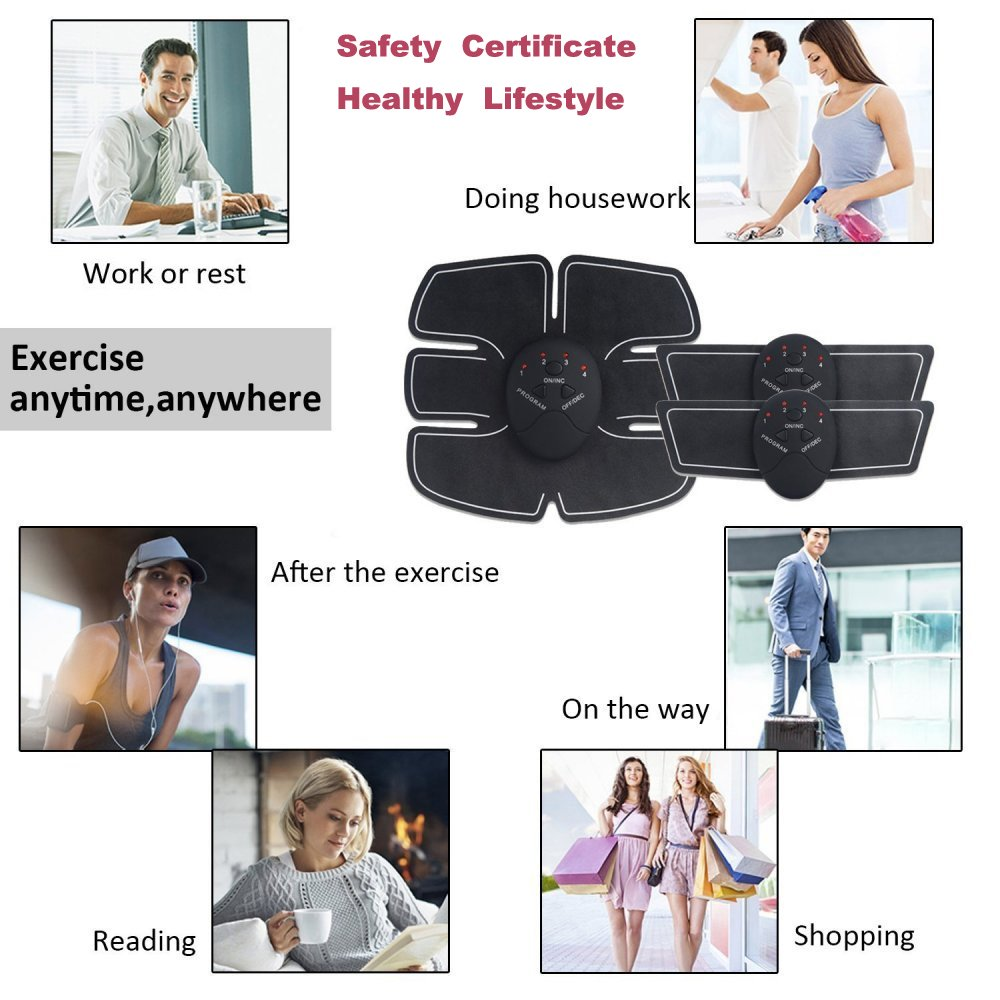 Abdominal Trainers Waist Trimmers Intelligent Fitness Exercise Set Slimming Instrument Belt 3 Host by FIINSS (Image #5)