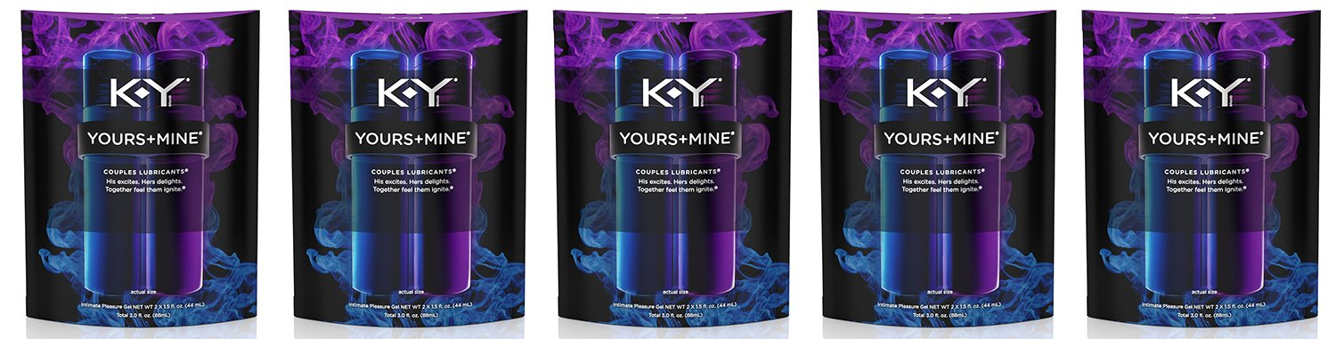 K-Y Yours and Mine Couples Lubricant PMOkL - 3 Oz (5 Pack) by Multiple