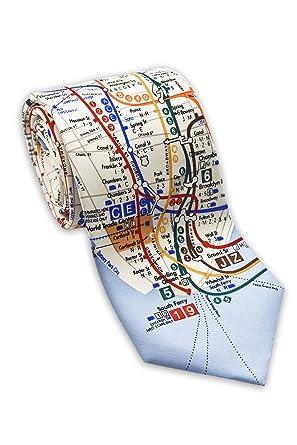 Nyc Subway Map A C E.Josh Bach Men S New York City Subway Map Silk Necktie Made In Usa