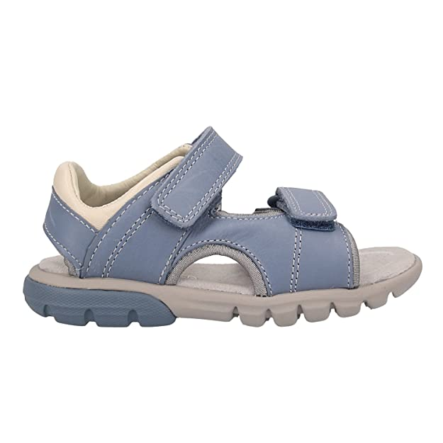 324bd52653 Clarks Rocco Wave Kid Leather Sandals in Denim Blue: Amazon.co.uk: Shoes &  Bags