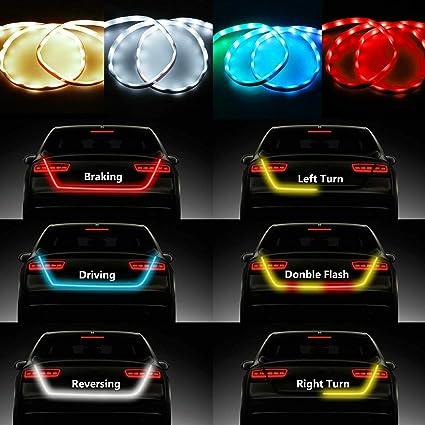 Bande LED pour coffre de voiture Clignotants de feux de freinage arri/ère NSLUMO 119,4/cm 149,9/cm
