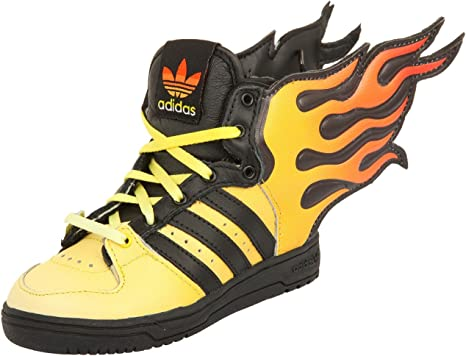 Adidas JS FLAMMES I Scarpe Sneakers Giallo Nero per Bebe Jeremy Scott