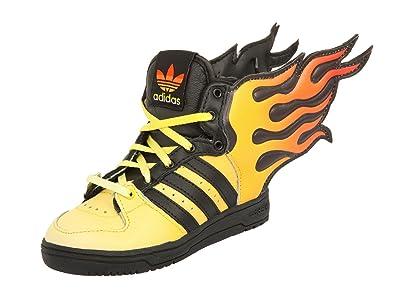 0d208e52b5957 adidas JS Flammes I Chaussures Sneakers Bebe Jaune Noir Jeremy Scott T 23