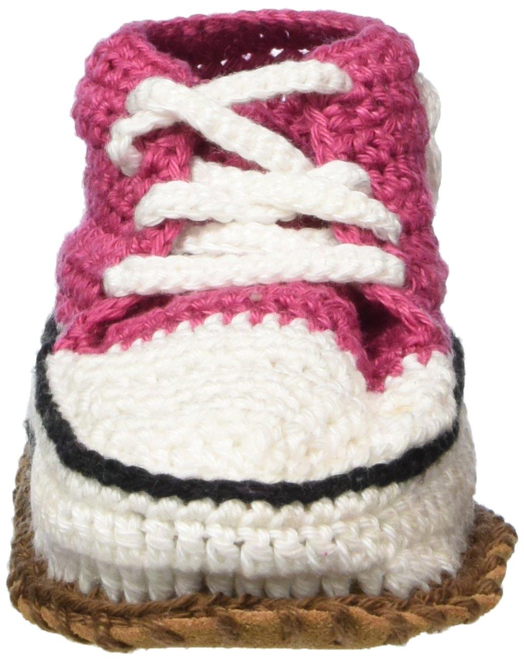 Baobab - Zapatillas de ganchillo para bebé (suela de piel salvaje antideslizante, 15-22 meses), color rosa: Amazon.es: Bebé
